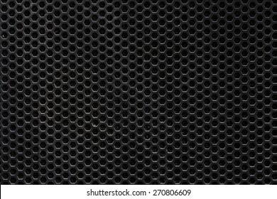 Dark hexagon steel mesh background