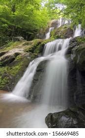 Dark Hollow Falls in Shenandoah National Park, Virginia in June 2013.