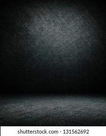 dark interior room.