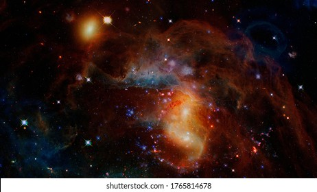 Dark interstellar space. Dark nebula. Elements of this image furnished by NASA.