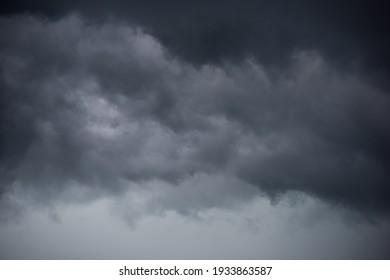 Dark layers cloudy rain coming