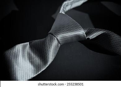 Dark man's tie