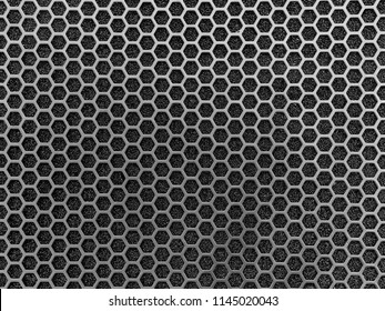 Dark metal mesh texture and background.