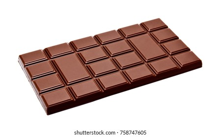 Dark milk whole chocolate isolated on a white background