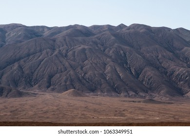 Dark mountains in Atacama