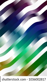 Dark Multicolor, Rainbow template with abstract lines. Colorful abstract illustration with gradient lines. A new texture for your  ad, booklets, leaflets.