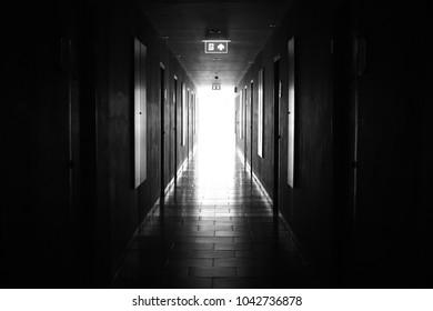 Dark and Mysterious Hallway