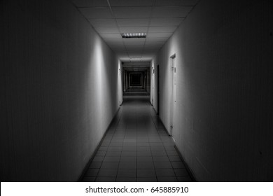 Dark narrow corridor