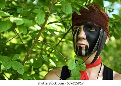 dark native warrior