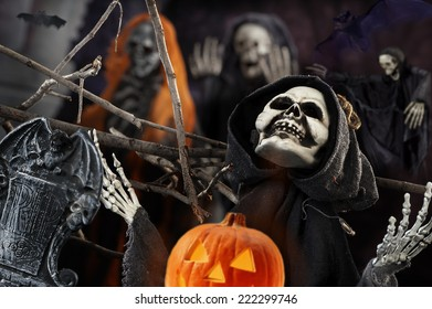 the dark night of Halloween