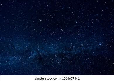 Dark Night Starry Sky Background.