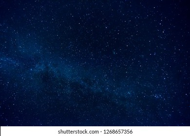 Dark Night Starry Sky Background.