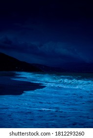 Dark Night Time Beach View