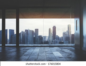 Dark office interior