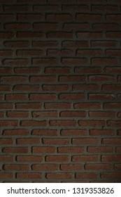 Dark old orange stone brick background and texture