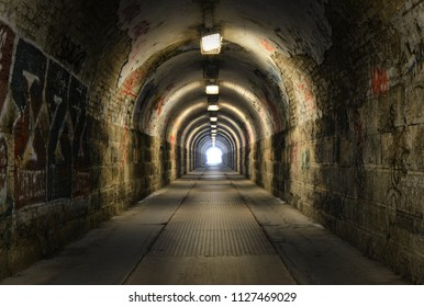 Dark and old tunnel