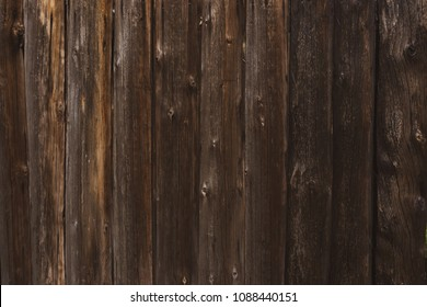 Dark old wooden brown barn texture background, top view, abstract concept