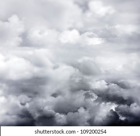 Dark ominous clouds. Dramatic sky background