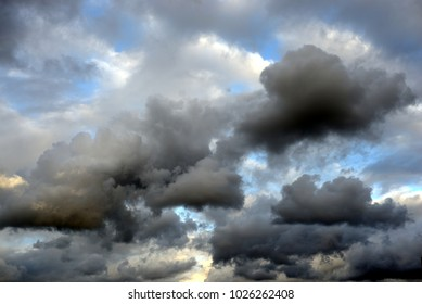 Dark ominous storm cloud. Can be used as a background.