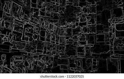 Dark outline stokes texture backdrop