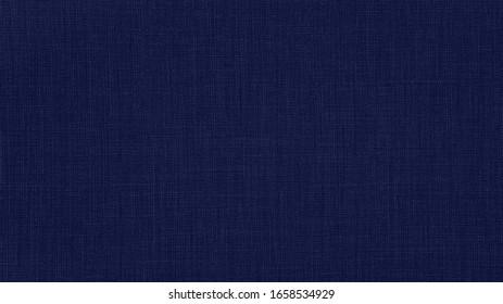 Dark phantom blue natural cotton linen textile texture background