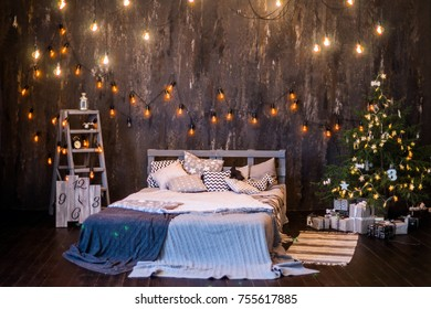 dark photo Studio with sofa bed