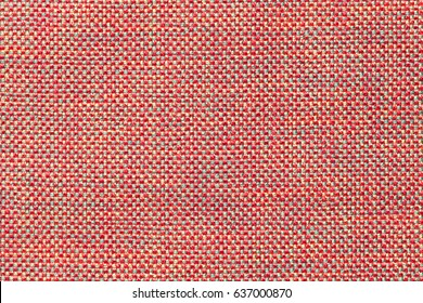 Dark pink background with checkered pattern, closeup. Structure of the light red fabric with natural texture. Cloth backdrop. - Shutterstock ID 637000870