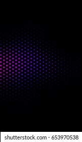 Dark Pink, Blue red pattern of geometric circles, shapes. Colorful mosaic banner. Geometric background with colored disks.