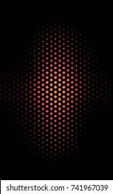 Dark Pink, Red abstract pattern with circles. Geometry template for your business design. Background with colored spheres.