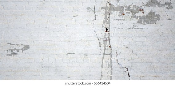 Dark Plaster Wall With Dirty White Black Scratched Horizontal Background.