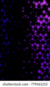 Dark Purple vertical pattern with christmas stars. Blurred decorative design in simple style with stars. The pattern can be used for wrapping gifts.