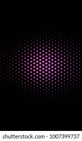 Dark Purple vertical red pattern of geometric circles, shapes. Colorful mosaic banner. Geometric background with colored disks.