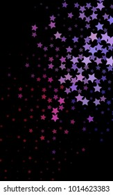 Dark Purple vertical texture with beautiful stars. Stars on blurred abstract background with gradient. The template can be used as a background.