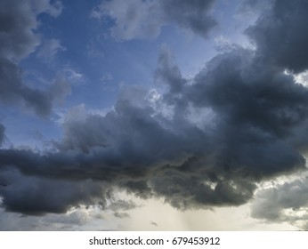 Dark or rain cloud in the sky in the evening before heavy rain