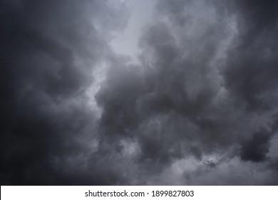 Dark rain clouds in the sky