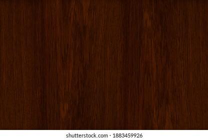 Dark red oak wood veneer vertical grain