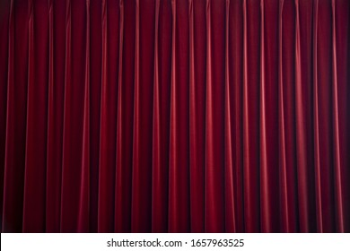 dark red stage curtain image
