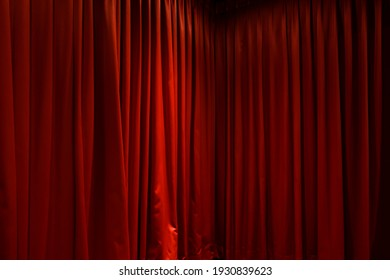 dark red stage curtain image