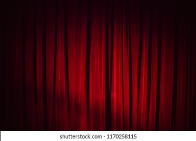 Dark red vintage velvet curtain, background photo texture