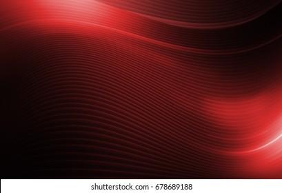 Dark Red Wavy Background Concept. Stripe Waves Abstraction.