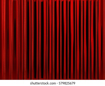 Dark red wavy theater curtain. Abstract background. 3D Rendering.