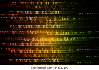 dark red yellow green illustration of technology internet network computer background with binary number, style background. infographics. Information. motion move blur. pixel. text box.