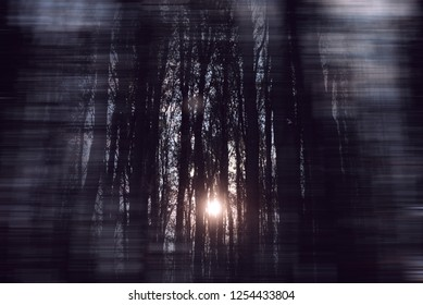 Dark representation of different problems, including eyesight problems