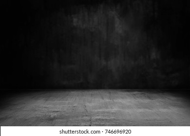 Dark Room With Black Background