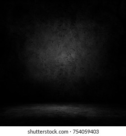 Dark room with concrete floor and wall background