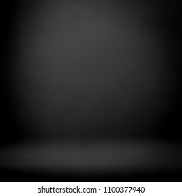 Dark room studio with spotlight backdrop used for background and display your product
