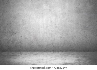 Dark room wall background.grey wall and floor interior background.