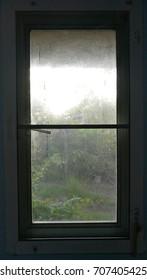 dark room and window light.
