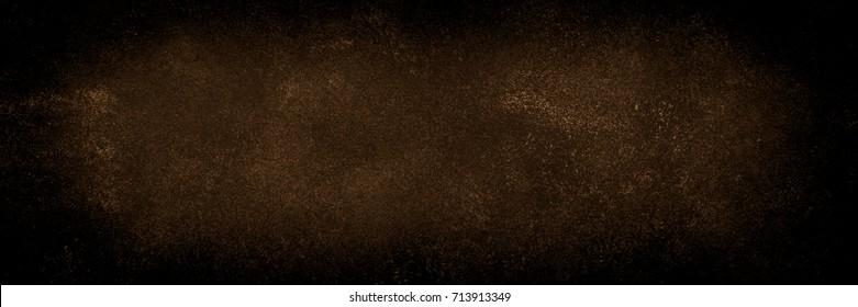 Dark rusty stone background. Brown metal surface.