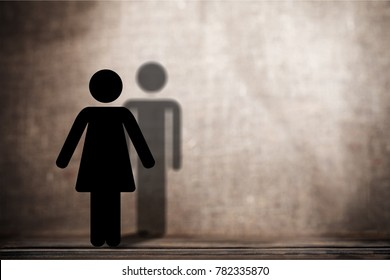 Dark silhouette of a human on a